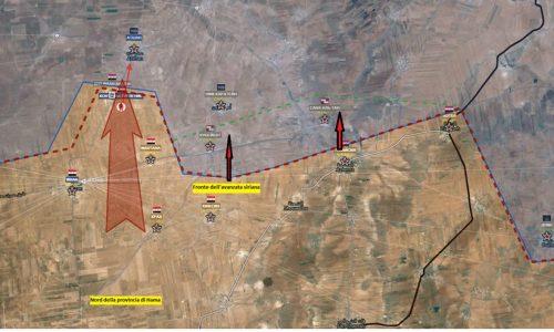 Situazione operativa sul fronte siriano