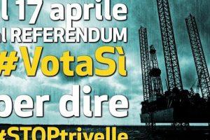 Il Governo informi del Referendum del 17 Aprile 2016 sulle trivellazioni in mare!