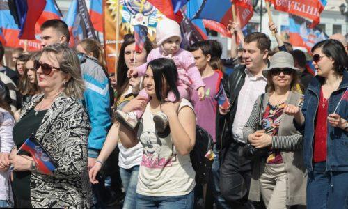 Donetsk festeggia il 2° anniversario d'indipendenza