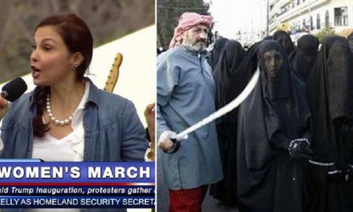 Le ragazze yazide vengono vendute come schiave sessuali, mentre le donne marciano contro Trump