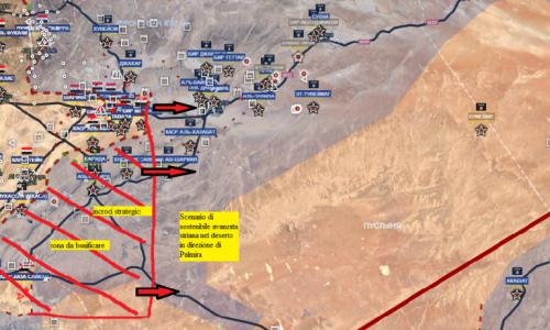 Situazione operativa sui fronti siriani al 3-2-2017 by Stefano Orsi