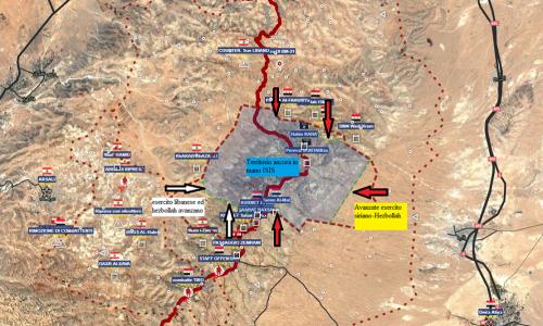 Operative situation of Sirian Fronts/Situazione operativa sui fronti siriani del 26-8-2017 by Stefano Orsi