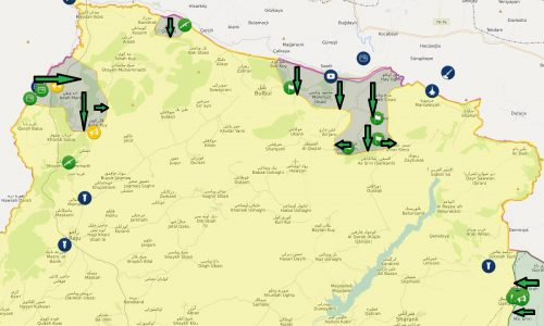 22 gennaio 2018 Situazione operativa sui fronti siriani/Operative situation on the Syrian fronts