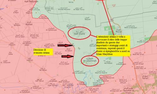 Situazione operativa sui fronti siriani del 11-8-2019 di STEFANO ORSI